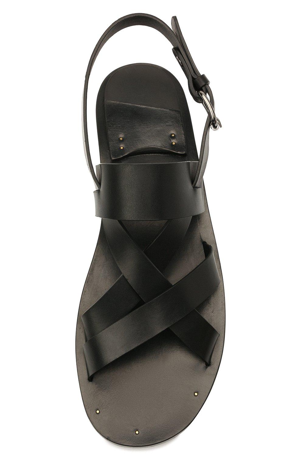 Мужские кожаные сандалии OFFICINE CREATIVE черного цвета, арт. K0NTRAIRE/005/SPALLA PIUMA | Фото 5 (Материал внутренний: Натуральная кожа)