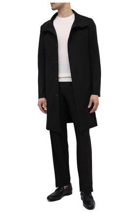 Мужские кожаные лоферы SERGIO ROSSI темно-синего цвета, арт. A91390-MVI302 | Фото 2