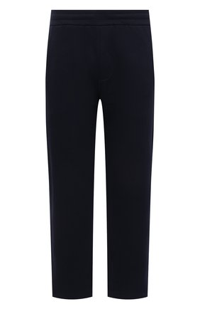 Мужские хлопковые брюки BRIONI темно-синего цвета, арт. UJDJ0L/P0637 | Фото 1 (Длина (брюки, джинсы): Стандартные; Материал внешний: Хлопок; Случай: Повседневный; Стили: Кэжуэл)
