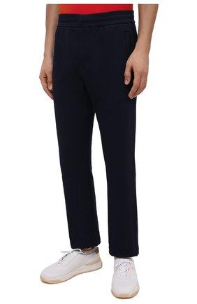 Мужские хлопковые брюки BRIONI темно-синего цвета, арт. UJDJ0L/P0637 | Фото 3
