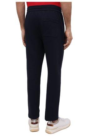 Мужские хлопковые брюки BRIONI темно-синего цвета, арт. UJDJ0L/P0637 | Фото 4