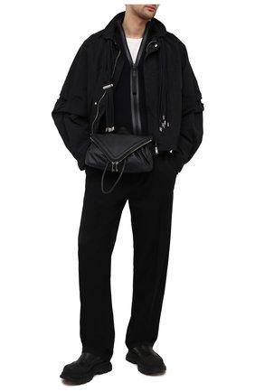 Мужская кожаная поясная сумка BOTTEGA VENETA черного цвета, арт. 659419/VA9VD | Фото 2