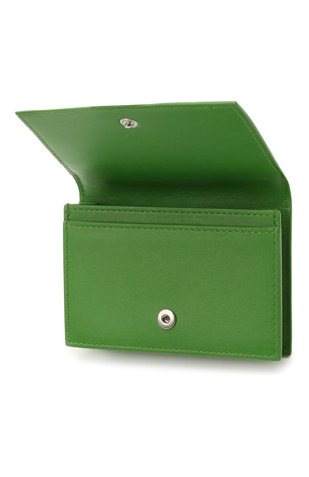 Мужской кожаный футляр для кредитных карт BOTTEGA VENETA зеленого цвета, арт. 649879/V0SQ3   Фото 3