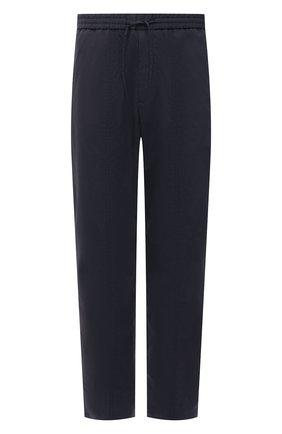 Мужские брюки EMPORIO ARMANI темно-синего цвета, арт. A1P740/A1066 | Фото 1 (Материал внешний: Хлопок, Синтетический материал; Длина (брюки, джинсы): Стандартные; Случай: Повседневный; Стили: Кэжуэл)