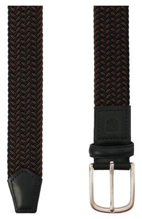 Мужской комбинированный ремень CORNELIANI коричневого цвета, арт. 87V356-1120828/00 | Фото 2