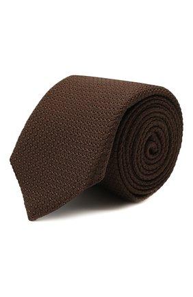 Мужской шелковый галстук CORNELIANI коричневого цвета, арт. 87U306-1120302/00   Фото 1