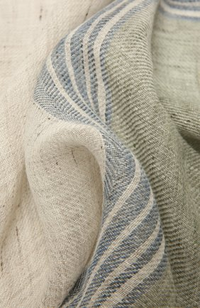 Мужской льняной шарф LORO PIANA бежевого цвета, арт. FAL6393 | Фото 2
