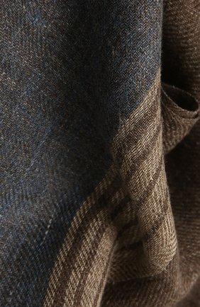 Мужской льняной шарф LORO PIANA коричневого цвета, арт. FAL6393 | Фото 2