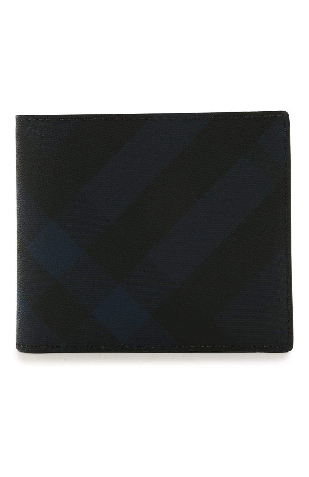Мужской портмоне BURBERRY синего цвета, арт. 8022943   Фото 1 (Материал: Текстиль, Экокожа)