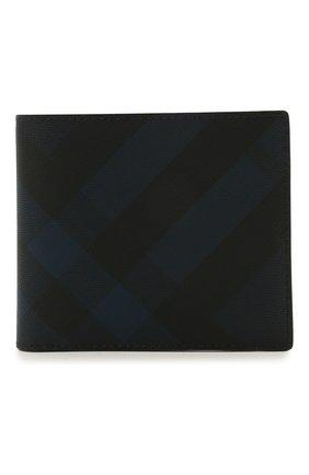Мужской портмоне BURBERRY синего цвета, арт. 8022943 | Фото 1