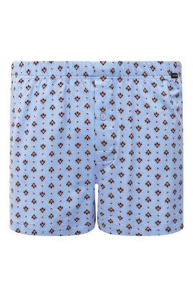 Мужские хлопковые боксеры HANRO синего цвета, арт. 074039 | Фото 1 (Материал внешний: Хлопок; Кросс-КТ: бельё; Мужское Кросс-КТ: Трусы)