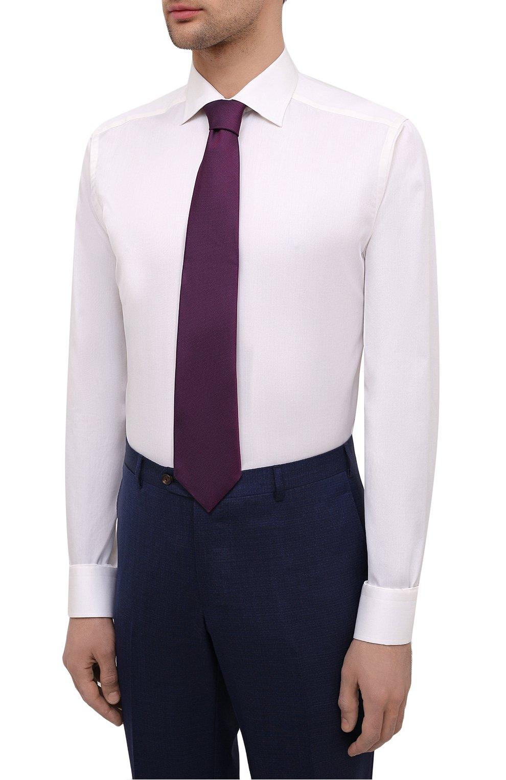 Мужская хлопковая сорочка ETON светло-бежевого цвета, арт. 3000 79513 | Фото 4 (Манжеты: На пуговицах; Рукава: Длинные; Воротник: Акула; Длина (для топов): Стандартные; Рубашки М: Slim Fit; Материал внешний: Хлопок; Стили: Классический; Случай: Формальный; Принт: Однотонные)
