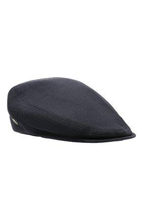 Мужская кепи изо льна и шелка CORNELIANI темно-синего цвета, арт. 870338-1129203/00 | Фото 1