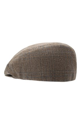 Мужская кепи изо льна и шелка CORNELIANI бежевого цвета, арт. 870338-1129203/00 | Фото 2