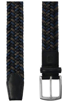 Мужской кожаный ремень CORNELIANI синего цвета, арт. 87V357-1120801/00 | Фото 2