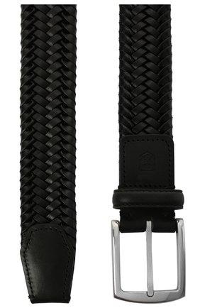 Мужской кожаный ремень CORNELIANI черного цвета, арт. 87V357-1120801/00 | Фото 2