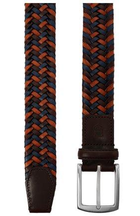 Мужской кожаный ремень CORNELIANI темно-коричневого цвета, арт. 87V357-1120801/00 | Фото 2