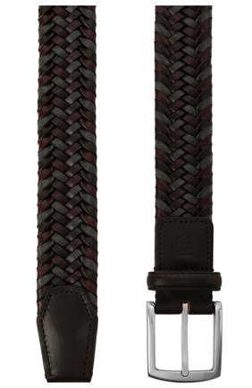 Мужской кожаный ремень CORNELIANI бордового цвета, арт. 87V357-1120801/00   Фото 2