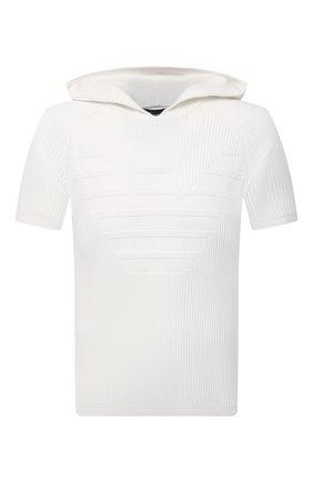 Мужской хлопковый джемпер EMPORIO ARMANI белого цвета, арт. 3K1MXF/1MLZZ | Фото 1