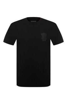 Мужская хлопковая футболка EMPORIO ARMANI черного цвета, арт. 3K1TAN/1JTUZ | Фото 1
