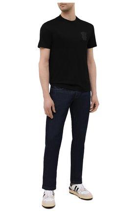 Мужская хлопковая футболка EMPORIO ARMANI черного цвета, арт. 3K1TAN/1JTUZ | Фото 2