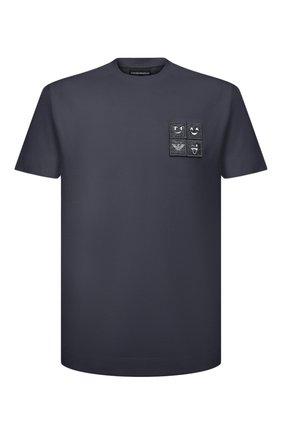 Мужская хлопковая футболка EMPORIO ARMANI серого цвета, арт. 3K1TBR/1JTUZ | Фото 1