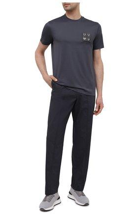 Мужская хлопковая футболка EMPORIO ARMANI серого цвета, арт. 3K1TBR/1JTUZ | Фото 2