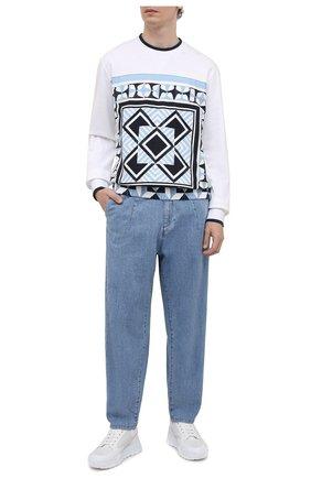 Мужские джинсы GIORGIO ARMANI голубого цвета, арт. 3KSP61/SD0TZ | Фото 2