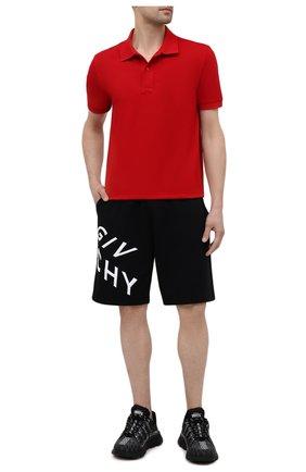 Мужские хлопковые шорты GIVENCHY черного цвета, арт. BM50MW30AF | Фото 2