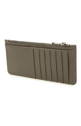 Мужской кожаный футляр для кредитных карт DOLCE & GABBANA хаки цвета, арт. BP2172/AZ602 | Фото 2