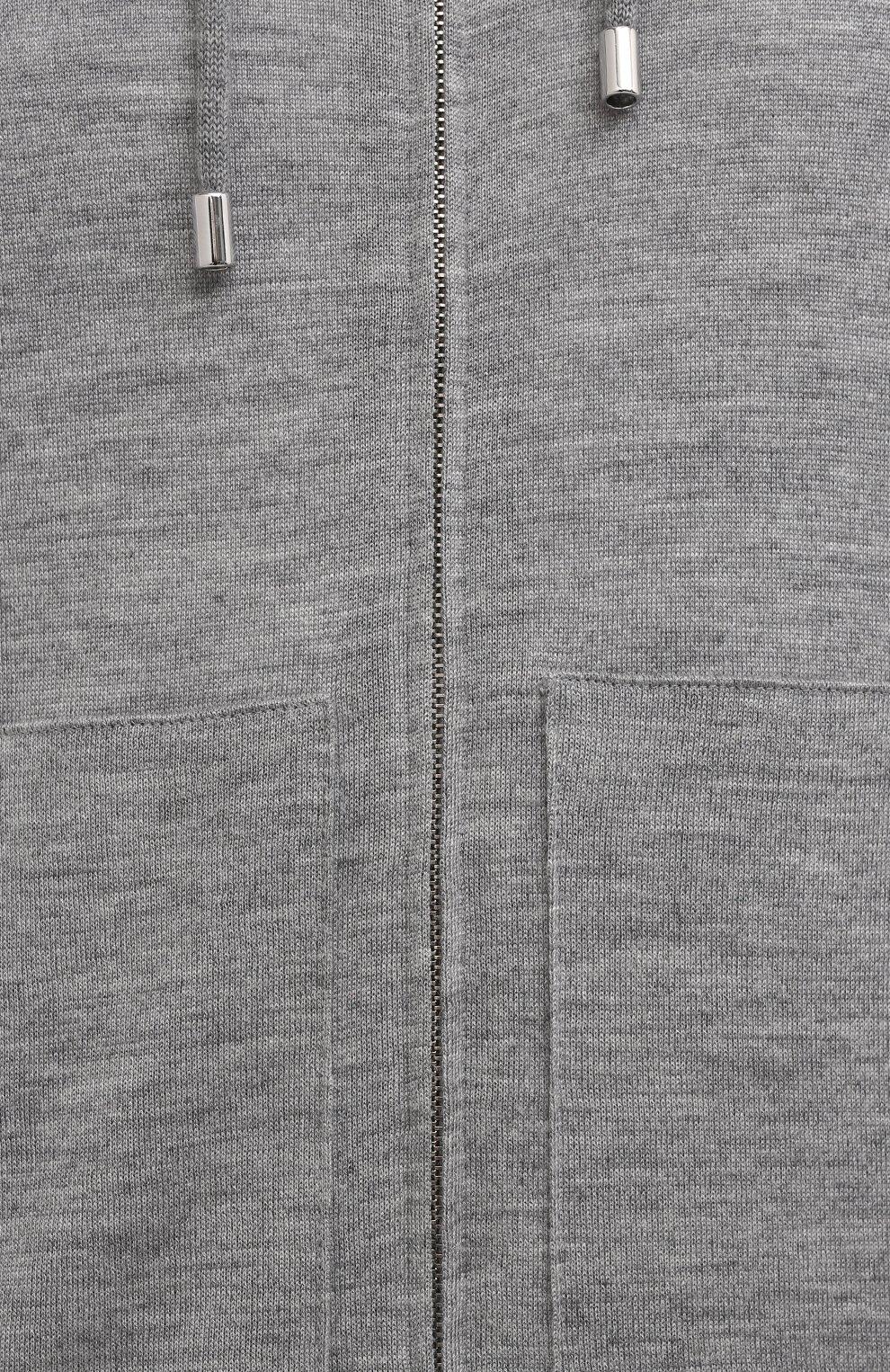 Мужской кардиган из кашемира и шелка FIORONI серого цвета, арт. MK22110E1   Фото 5 (Мужское Кросс-КТ: Кардиган-одежда; Материал внешний: Шерсть, Шелк, Кашемир; Рукава: Длинные; Длина (для топов): Стандартные; Стили: Кэжуэл)