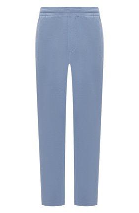 Мужские хлопковые брюки BRIONI голубого цвета, арт. UJDJ0L/P0650 | Фото 1