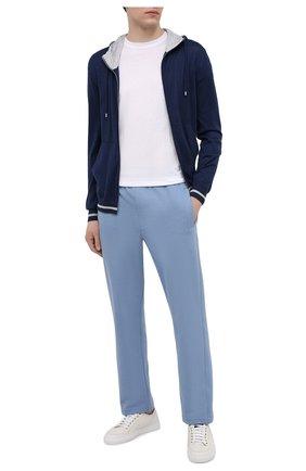 Мужские хлопковые брюки BRIONI голубого цвета, арт. UJDJ0L/P0650 | Фото 2