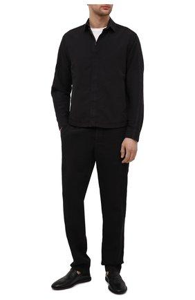 Мужские кожаные лоферы OFFICINE CREATIVE черного цвета, арт. M0REIRA/001/NAPPAH | Фото 2
