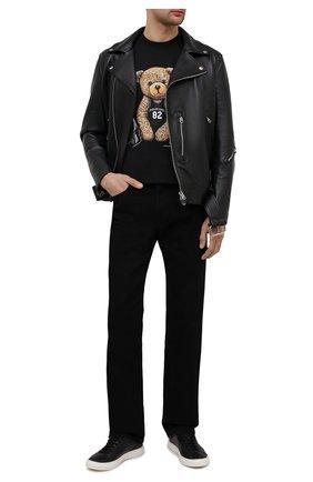 Мужские кожаные кеды OFFICINE CREATIVE черного цвета, арт. LEGGERA/014/DEER | Фото 2