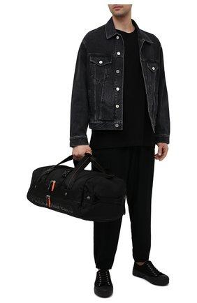 Мужская текстильная спортивная сумка mendenhall PARAJUMPERS черного цвета, арт. BA10/MENDENHALL   Фото 2