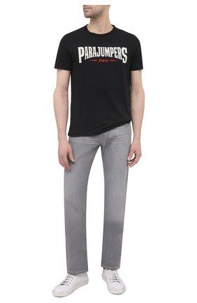 Мужская хлопковая футболка PARAJUMPERS черного цвета, арт. TS03/WALD0 TEE | Фото 2 (Материал внешний: Хлопок; Рукава: Короткие; Длина (для топов): Стандартные; Принт: С принтом; Стили: Гранж)