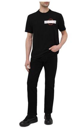 Мужская хлопковая футболка Z ZEGNA черного цвета, арт. VW362/ZZ649P   Фото 2 (Рукава: Короткие; Длина (для топов): Стандартные; Материал внешний: Хлопок; Принт: С принтом; Стили: Кэжуэл)