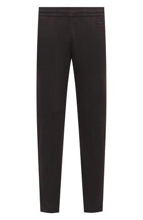 Мужские хлопковые брюки Z ZEGNA темно-серого цвета, арт. VW413/ZZP13   Фото 1 (Длина (брюки, джинсы): Стандартные; Материал внешний: Хлопок; Случай: Повседневный; Мужское Кросс-КТ: Брюки-трикотаж; Стили: Спорт-шик)