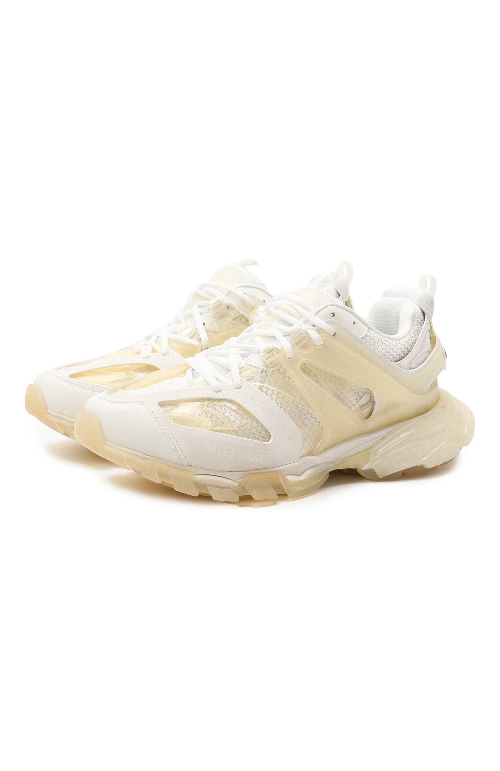 Мужские комбинированные кроссовки track BALENCIAGA белого цвета, арт. 647742/W3BM1   Фото 1 (Материал внешний: Текстиль; Стили: Гранж; Материал внутренний: Текстиль; Подошва: Массивная)