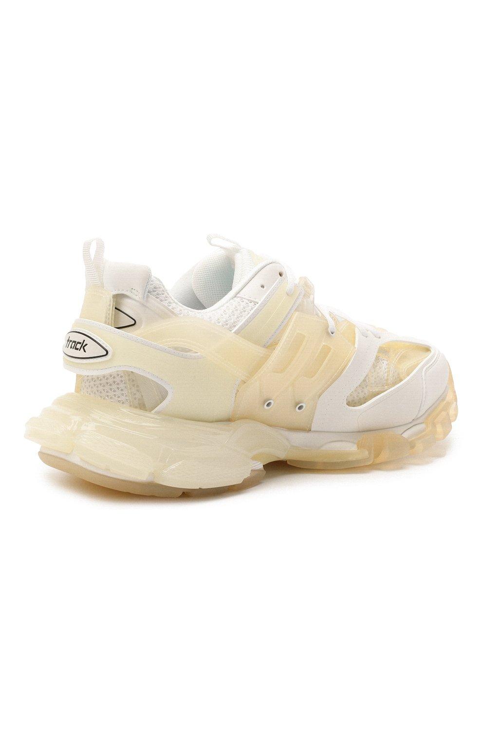 Мужские комбинированные кроссовки track BALENCIAGA белого цвета, арт. 647742/W3BM1   Фото 4 (Материал внешний: Текстиль; Стили: Гранж; Материал внутренний: Текстиль; Подошва: Массивная)