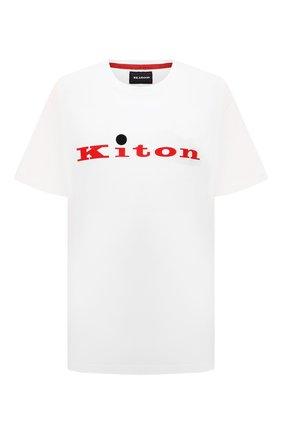 Мужская хлопковая футболка KITON белого цвета, арт. UK1164L | Фото 1