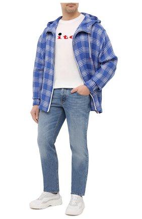Мужская хлопковая футболка KITON белого цвета, арт. UK1164L | Фото 2
