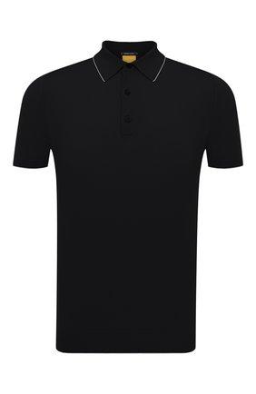 Мужское хлопковое поло SVEVO черного цвета, арт. 4650SE21/MP46 | Фото 1