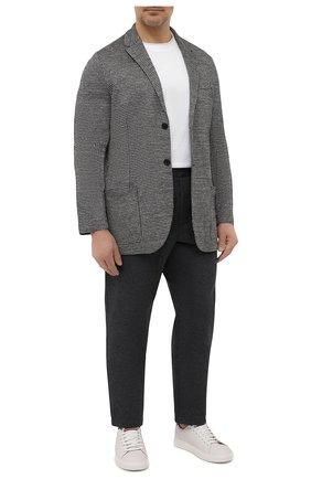 Мужские хлопковые брюки HARRIS WHARF LONDON темно-серого цвета, арт. C7015PBR/58 | Фото 2
