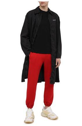 Мужские хлопковые джоггеры OFF-WHITE красного цвета, арт. 0MCH030S21FLE001   Фото 2