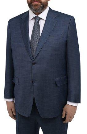 Мужской шерстяной костюм CANALI синего цвета, арт. 21280/10/AA02524/60-64   Фото 2
