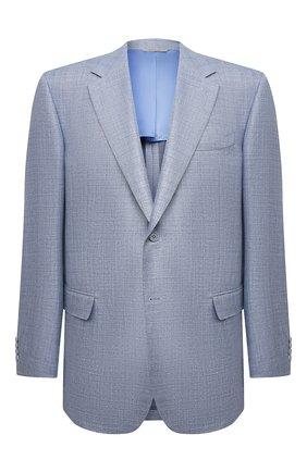 Мужской пиджак из шерсти и шелка CANALI голубого цвета, арт. 21280/CU00383 | Фото 1