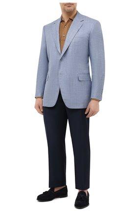 Мужской пиджак из шерсти и шелка CANALI голубого цвета, арт. 21280/CU00383 | Фото 2