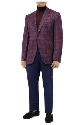 Мужские шерстяные брюки CANALI синего цвета, арт. 71012/AS10315/60-64   Фото 2